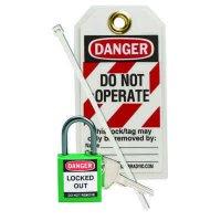 Brady 123144 Green Compact Lock Personal Kit - Kit