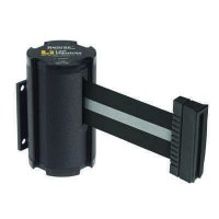 Beltrac® Wall-Mount Retractable Belts - Silver/Black Belt  50-3010WB/SB