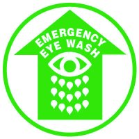 Floor Safety Signs - Emergency Eye Wash