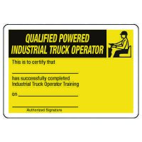 Certification Photo Wallet Cards - Qualified Powered Industrial Truck Operator
