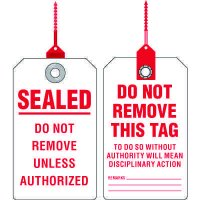 Do Not Remove Seal Tags