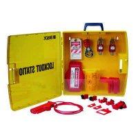 Ready Access Valve & Electrical Lockout Station w/Safety Padlocks