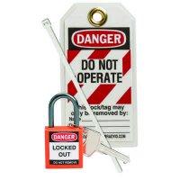 Brady 123145 Orange Compact Lock Personal Kit - Kit