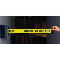 Wall Mount Security Tensabarriers- Caution Do Not Enter - Tensabarrier 897-33-YA-C