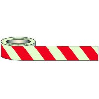 Glow In The Dark Red Striped Tape