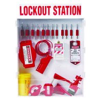 Brady Combination Lockout Station - Filled with 46 Valve and Electrical Lockout Devices and Components