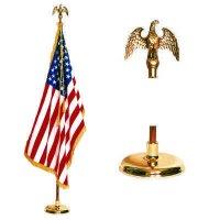 Deluxe Indoor U.S. Flag Set