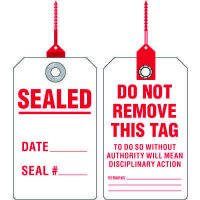 Sealed Date Tag