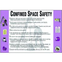 Confined Space Safety Wallchart