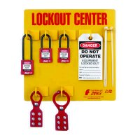 Zing® RecycLockout Lockout Tagout Station, 3 Padlocks