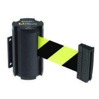 Beltrac® Wall-Mount Retractable Belts - Black/Yellow Belt