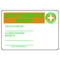 Certification Photo Wallet Cards - Safety Committee Member