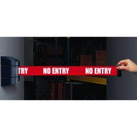 Wall Mount Security Tensabarriers- No Entry - Tensabarrier 897-15-S-33-NO-RBX-C