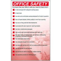 Office Safety Workplace Wallchart