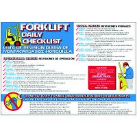 Bilingual Forklift Daily Checklist Wallchart