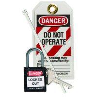 Brady 123151 Black Compact Lock Personal Kit - Kit