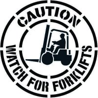 Caution Watch for Forklifts Floor Stencil Pavement Tool S-5520D