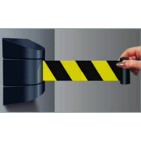 Deluxe Black and Yellow Striped Tensabarrier Barricades
