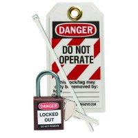 Brady 123148 Brown Compact Lock Personal Kit - Kit