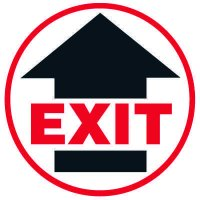 Floor Safety Signs - Exit