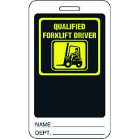 Qualified Forklift Driver ID Tag