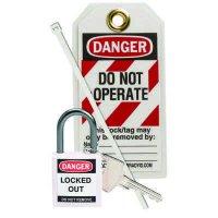 Brady 123149 White Compact Lock Personal Kit - Kit