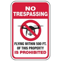No Trespassing - Flying Within 500ft Prohibited