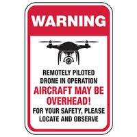 No Trespassing: Site is Monitored By Drone Sign