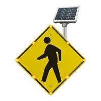 LED Flashing Pedestrian Crossing Sign