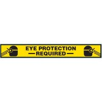 Eye Protection Required Floor Marking Strips