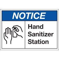 Hand Sanitizer Station Label