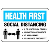 Health First Social Distancing Signs