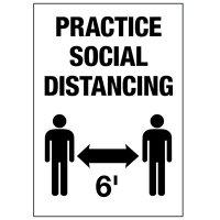 Practice Social Distancing 6FT Label