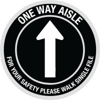 Custom One Way Aisle Floor Safety Signs