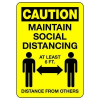Caution Maintain Social Distancing At Least 6 Ft.