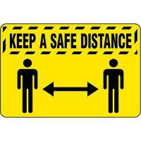 Keep A Safe Distance - Safety Message Mat