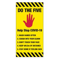 COVID-19 Temporary Signs - 5 Steps to Stay Safe
