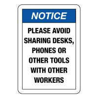 Please Avoid Sharing Desks, Phones, or Tools With Coworkers