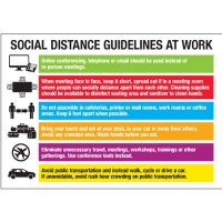 Social Distance Guidelines at Work Sign