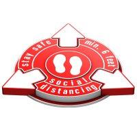 3D Floor Marker - Stay Safe Social Distancing - Red