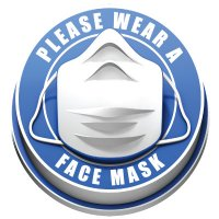 3D Floor Markers - Please Wear a Face Mask