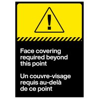 Face Mask Required Decal - French/English