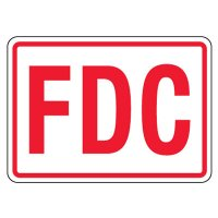 Reflective FDC Signs - Red on White