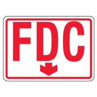 Reflective FDC Signs - Down Arrow, Red on White