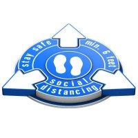 3D Floor Marker - Stay Safe Social Distancing - Blue