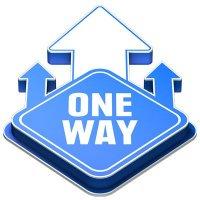 3D Floor Marker - One Way - Blue