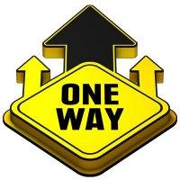 3D Floor Marker - One Way - Yellow