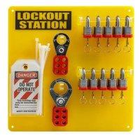 """Brady 51188 10-Lock Board (Filled with Brady 3/4"""" Steel Padlocks)"""