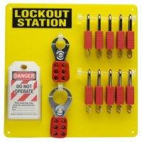 Brady 51187 10-Lock Board (Filled with Brady Safety Padlocks)