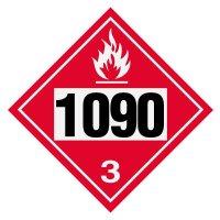 1090 Acetone - DOT Placards